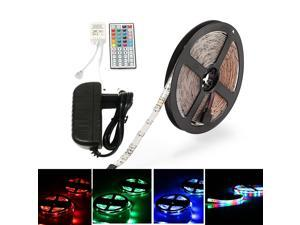 Strip Light RGB Waterproof 5M 2835RGB LED Light Strip and IR44 Controller 12V/2A Power Supply AC100-240V