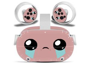 Amify Vinyl Skin Sticker for Oculus Quest 2 VR Headset Controller PVC Decals Cute Cartoon Wrap Cover for Oculus Quest 2 Accessories