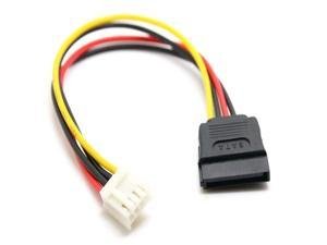 4Pin FDD Floppy Female to 15Pin SATA Female Adapter Converter Power Leads Cable Cord 18AWG Wire for ITX PC