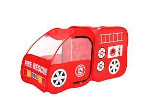 Fire Engine Truck Pop-up Foldable Indoor/Outdoor Play Tent Kids Pretend Playhous