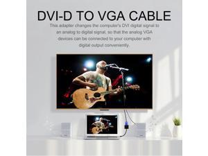 DVI-D to VGA Active Adapter Converter Cable Monitor Cable for PC Display Card