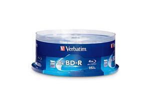 Verbatim BD-R 25GB 16X Blu-ray Recordable Media Disc - 25 Pack Spindle