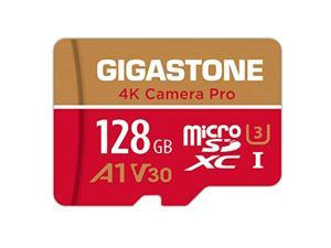 Gigastone 128GB Micro SD Card, A1 V30 Run App for Smartphone, UHD 4K Video Recording, High speed 4K Gaming 100MB/s, Micro SDXC UHS-I U3 C10 Class 10 Memory Card with Adapter