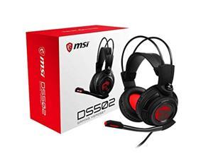 MSI DS 502 Gaming Headset with Microphone, Enhanced Virtual 7.1 Surround Sound, Intelligent Vibration System