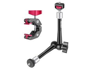 Neewer 11 inches Adjustable Articulating Friction Magic Arm with Super Clamp, Robust Aluminum Alloy for DSLR/Mirrorless Cameras, Camcorders, LED Light, Flash Light, Field Monitor Video Vlog Rig