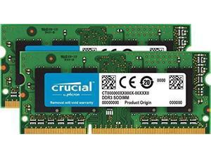 Crucial 4GB Kit (2GBx2) DDR3/DDR3L 1600 MT/S (PC3-12800) Unbuffered SODIMM 204-Pin Memory - CT2KIT25664BF160B