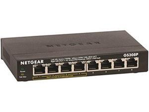 NETGEAR 8-Port Gigabit Ethernet Switch with 4-Port PoE (GS308P-100NAS)