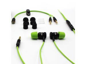 KLIM Fusion Gaming Ear buds Audio - Long-lasting Wired Earbuds with Microphone + 5 years Warranty - Innovative: In-ear Memory Foam & Mic - [New Earpods Version] - Audifonos - Earphones with Bass Green