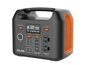 GoLabs Portable Power Station R300, 300Wh Backup Lithium Battery, 12V/300W Pure Sine Wave AC Outlet, Solar Generator Compatible for Outdoors Camping Travel Hunting Emergency