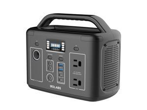 GoLabs Portable Power Station i200, 256Wh Backup Lithium Battery, 12V/200W Pure Sine Wave AC Outlet, Solar Generator Compatible for Outdoors Camping Travel Hunting Emergency