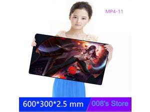 New Oversized Professional Game Mouse Pad Mousepad 600*300*2.5MM Speed Thick For lol One Piece DNF Rubber Mat Customized Gaming