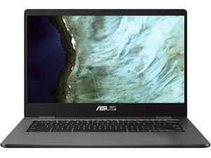 "ASUS - 14.0"" Chromebook - Intel Celeron N3350 - 4GB Memory - 32GB eMMC (Grey)"