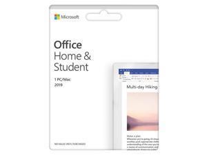 Microsoft Office Home & Student 2019 (1 Device) (Product Key Card) - Mac|Windows