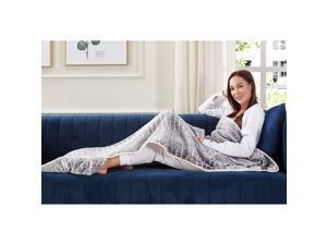Animal Print Foot Pocket Blanket - Sherpa Throw Blanket for Bed, Couch 28 x 70 Tenley, Crocodile