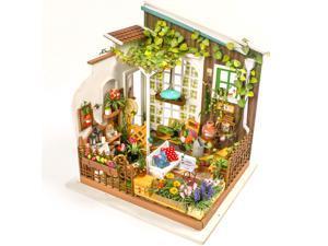 Hands Craft DG108 DIY 3D Wooden Puzzle Miniature House: Miller's Garden