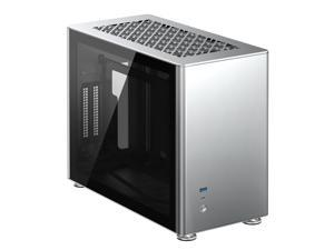 JONSBO A4 Ver1.1 ITX Computer Case Support 240mm Radiator SFX-L PSU 325mm Vertical GPU Vertical Airflow Tempered Glass Side Panel Separated Cabinet Magnalium Case - Silver