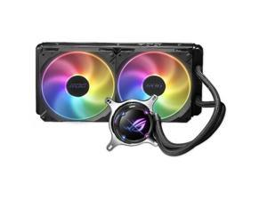 ASUS ROG STRIX LC II 280 RGB AIO Liquid CPU Cooler 280mm Radiator (Dual 140mm 4-pin PWM Fans) with Armoury Creat Controls ARGB