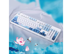 Ajazz Mechanical Gaming Keyboard USB Wired 104 Keys Dragonfly for Gamers PBT Keycaps - Red Switch (no backlight)