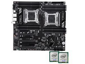 HUANANZHI X79 Dual Intel Xeon CPU LGA 2011 Sever Motherboard + Intel Xeon E5 2680V2 *2 CPU Workstation Solution Combo