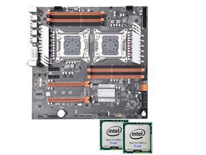 Jingsha X79 Dual CPU Motherboard Intel Xeon LGA 2011 E5 V2 WS Workstation Motherboard + Intel Xeon E5 2680 V2 *2 CPU Workstation Solution Combo