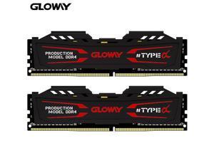 Gloway TYPEa Gaming RAM 16GB (2 x 8GB) 288-Pin DDR4 SDRAM DDR4 2666 (PC4 21300) Desktop Memory Support Intel XMP 2.0
