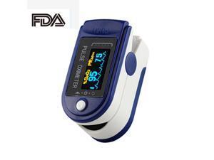 Pulse Oximeter Fingertip Blood Oxygen Monitor with LED HD Display - Dark Blue
