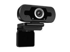 EIVOTOR USB Mini Computer Camera with Built-in Microphone for Laptops and Desktop,Black 720P HD Webcam