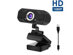 PC Webcam W18 Replace Logitech C270, 1080P Full HD Webcam USB Desktop & Laptop Webcam Live Streaming Webcam with Microphone Widescreen HD Video Webcam for Video Calling (HD Webcam)… (Black)