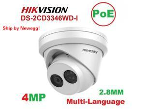 Hikvision DS-2CD3346WD-I 4MP PoE IR Turret Dome Camera Replace DS-2CD2345FWD-I 2.8mm