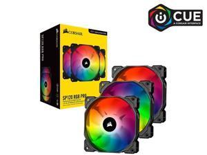 Corsair iCUE SP120 RGB PRO Performance 120mm Triple Fan Kit with Lighting Node CORE - CO-9050094-WW PC Cooling Computer LEDs Case Fans Heatsink Cooler Cooling Addressable LED RGB