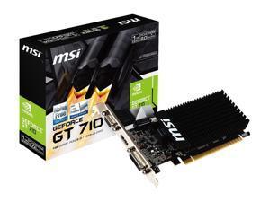 MSI GeForce GT 710 DirectX 12 GT 710 1GD3H LP 1GB 64-Bit DDR3 PCI Express 2.0 x16 HDCP Ready Low Profile Video Card