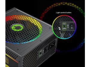 GameMax RGB-850 Rainbow Power Supply 850W RGB Fully Modular 80 Plus Gold Certified with Addressable RGB Light Vairous Color Mode