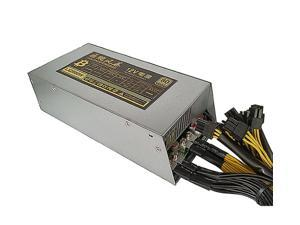 80% Efficiency 2200W Mining Power Supply For Antminer Miner S9 S7 APW3 L3+ D3 AC 110~240 V with 10pcs 6PIN