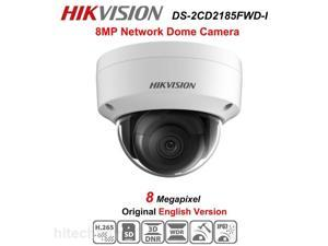 Hikvision English version DS-2CD2185FWD-I 2.8mm 8MP Network mini dome security CCTV Camera POE SD card 30m IR H.265+ IP camera Can Upgrade (If you need Bullet camera,you can to buy 2CD2085FWD-I)