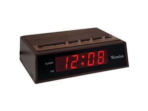 Westclox 22690 Startime Digital LED Wood Alarm Clock