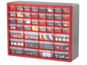 Akro-Mils AKM10144 Stackable Cabinets- 44 Drawers- 20in.x6-.38in.x15-1.19in.- Gray