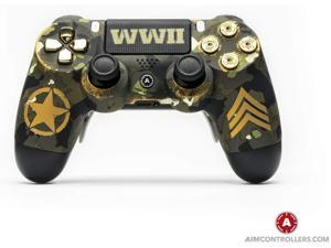 PS4 DualShock 4 Playstation 4 Wireless Controller - Custom AimControllers WWII Special Edition with Standard 4 Paddles.