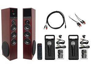 Rockville All-in-one Bluetooth Home Theater/Karaoke Machine System w/(2) Mics