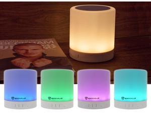 Rockville PBL20 20w Portable Bluetooth Night Light Touch Lamp Speaker w/Aux+SD