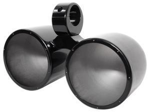 "Rockville DMAC80B Dual 7.7"" Black Aluminum Wakeboard Tower Speaker Enclosure"