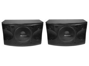"""Pair Rockville KPS12 12"""" 3-Way 1600 Watt Karaoke Speakers+Wall Brackets / MDF!"""