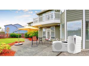"""Pair Rockville HP4S-8 4"""" Outdoor/Indoor Home Theater Speakers w/ Swivel Bracket"""