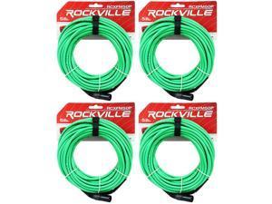 8 Rockville RCXFM10P-G Green 10/' Female to Male REAN XLR Mic Cable 100/% Copper