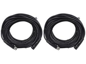 2 Rockville RDX5M50 50' 5-Pin Male-Female DMX Lighting Cables 100% Copper