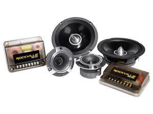 "Pair Rockville X6.5C Competition 6.5"" 1000W Component Speakers/Titanium Tweeters"