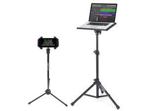 Samson LTS50 Laptop Stand w/ Tripod, Tilt, Grip Surface+Tablet/Smartphone Stand