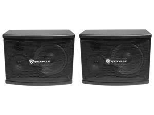 """Pair Rockville KPS65 6.5"""" 2-Way 400 Watt Karaoke Speakers+Wall Brackets / MDF!"""