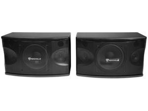 """Pair Rockville KPS80 8"""" 3-Way 800 Watt Karaoke/Pro Speakers+Wall Brackets / MDF!"""