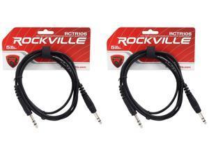 Rockville RCXMB6P 6/' Male REAN XLR to 1//4/'/' TRS Cable Purple 100/% Copper