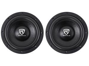 "(2) Rockville W10K6D2 V2 10"" 4000 Watt Car Audio Subwoofers Dual 2-Ohm Subs"